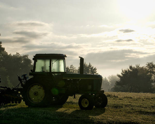 Agriculture Poster featuring the photograph Farming John Deere 4430 by Thomas Woolworth