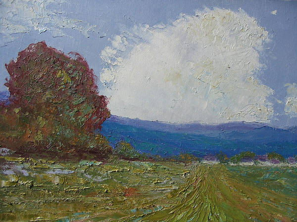 Landscape Poster featuring the painting Farmstead by Belinda Consten