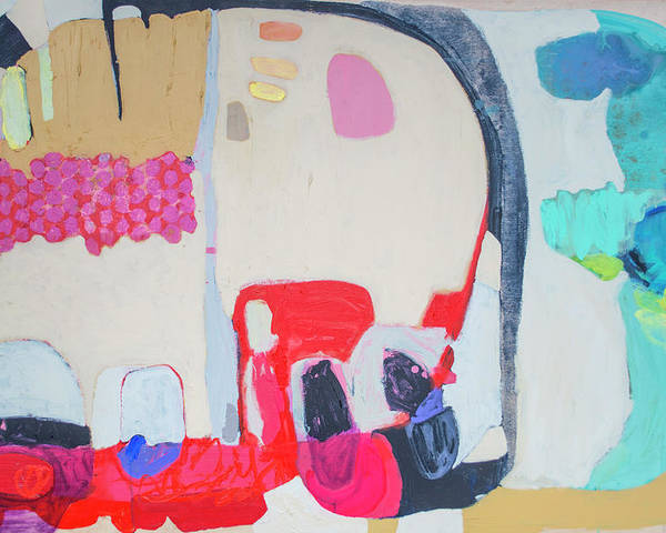 Abstract Poster featuring the painting Fast Friends by Claire Desjardins