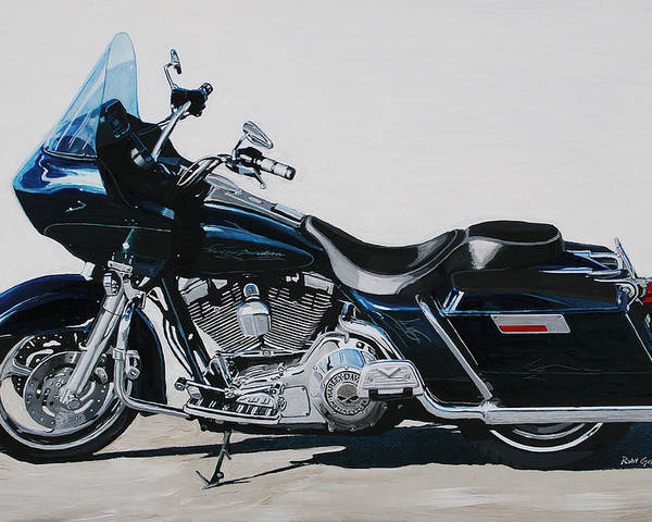 Harley Davidson Road Glide Poster featuring the painting Favorite Toy by Robert Gray