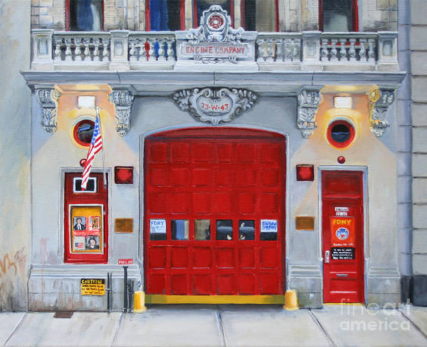 Fdny Poster featuring the painting FDNY Engine Company 65 by Paul Walsh