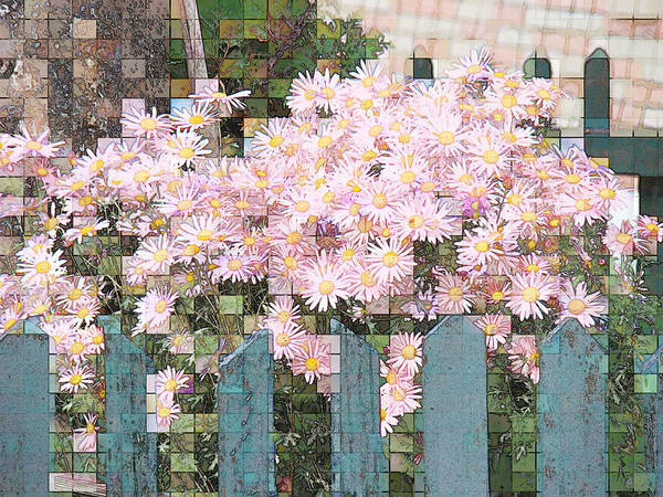 Photgraph Poster featuring the photograph Fenced Mosaic by Tingy Wende
