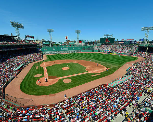 Mark Whitt Poster featuring the photograph Fenway Park - Boston Red Sox by Mark Whitt