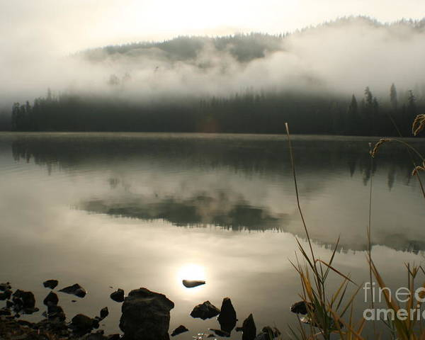 Mist Poster featuring the photograph Fernan Fog by Idaho Scenic Images Linda Lantzy
