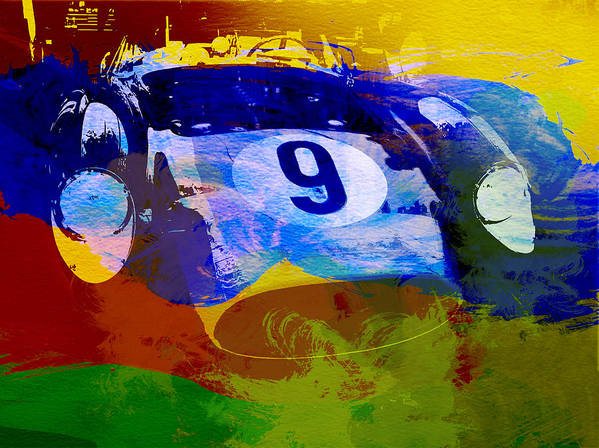 Naxart Poster featuring the digital art Ferrari Testarossa Watercolor by Naxart Studio