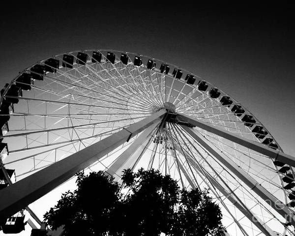 Chicago Poster featuring the photograph Ferris Wheel by Leslie Leda