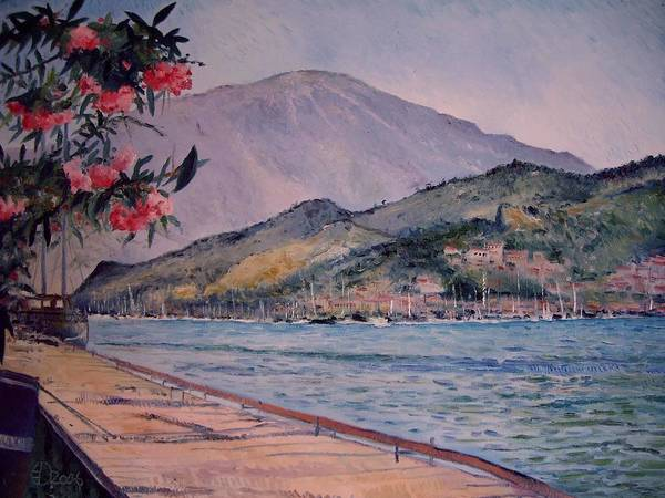 Turkey Poster featuring the painting Fethiye Turkey 2006 by Enver Larney