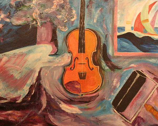 Poster featuring the painting Fiddle by Biagio Civale