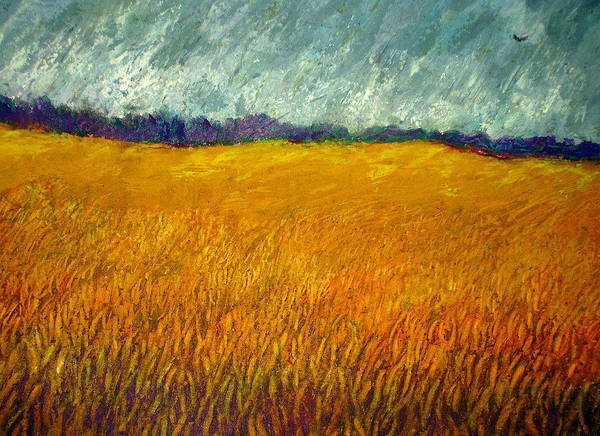Field Poster featuring the painting Field At Noon by Kent Whitaker