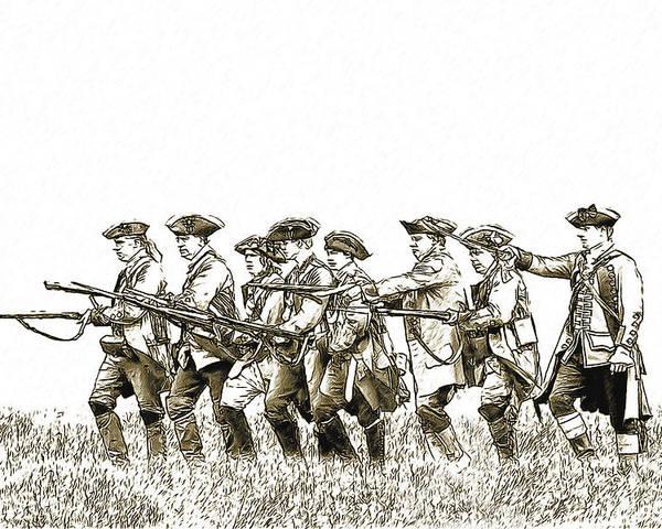 War Poster featuring the digital art Field Of Battle Soldier Sketch by Randy Steele