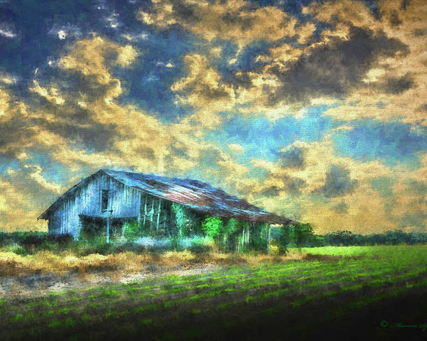 Barns Poster featuring the photograph Field Of Green by Marvin Spates