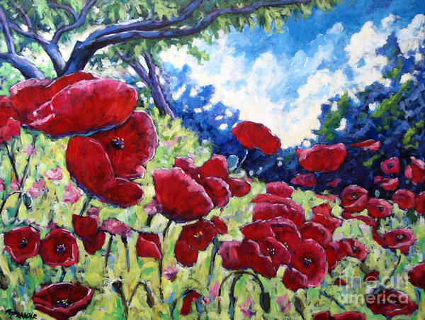 Poppies Poster featuring the painting Field Of Poppies 02 by Richard T Pranke