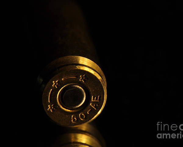 Bronze Poster featuring the photograph Fifty Caliber Ae by Crystal J Harwood