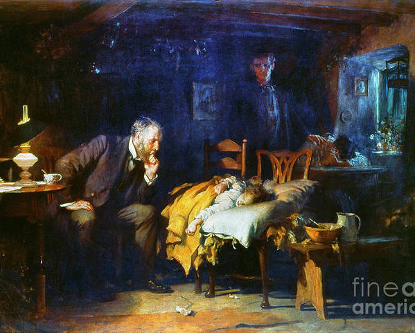 1891 Poster featuring the painting Fildes The Doctor 1891 by Granger