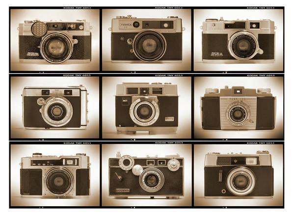 Vintage Cameras Poster featuring the photograph Film Camera Proofs 2 by Mike McGlothlen