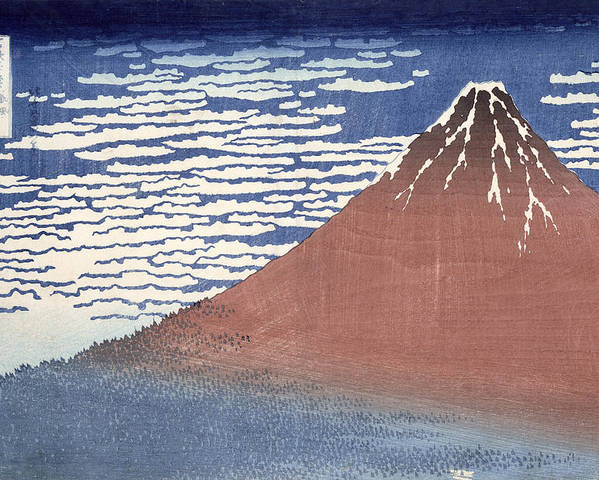 Fine Poster featuring the painting Fine Weather With South Wind by Hokusai