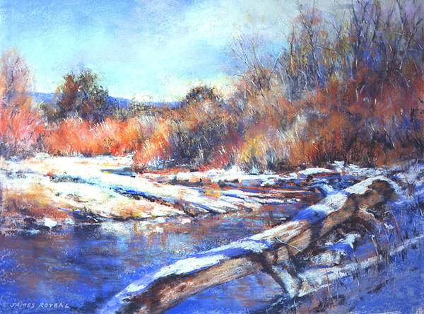 Landscape Poster featuring the painting Fire And Ice by James Roybal