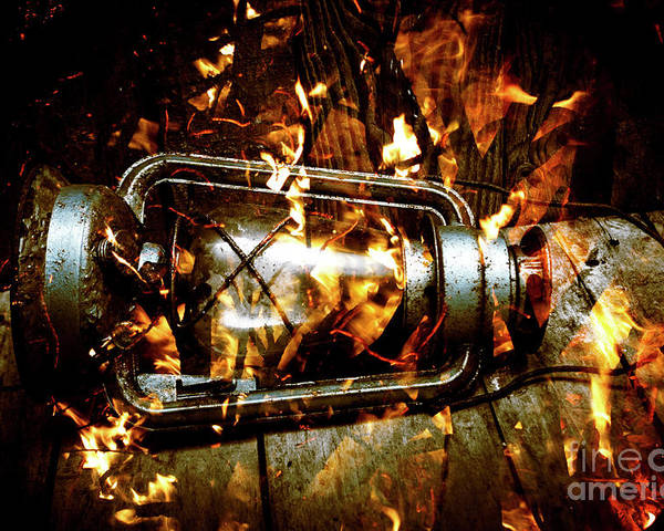 Lantern Poster featuring the photograph Fire In The Hen House by Jorgo Photography - Wall Art Gallery