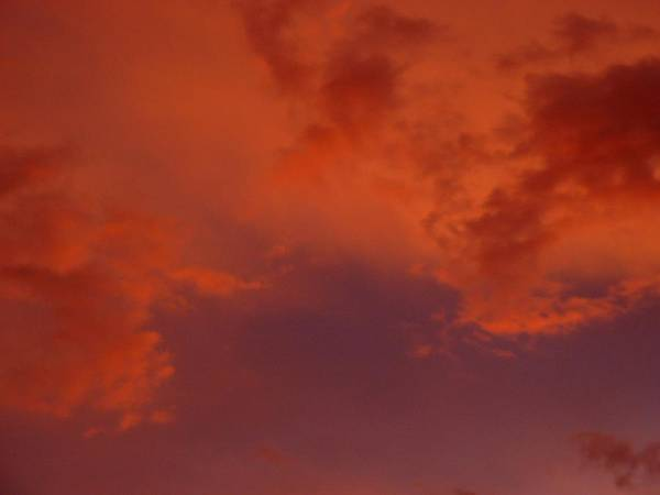 Clouds Poster featuring the photograph Fire In The Sky by Jennifer Ott
