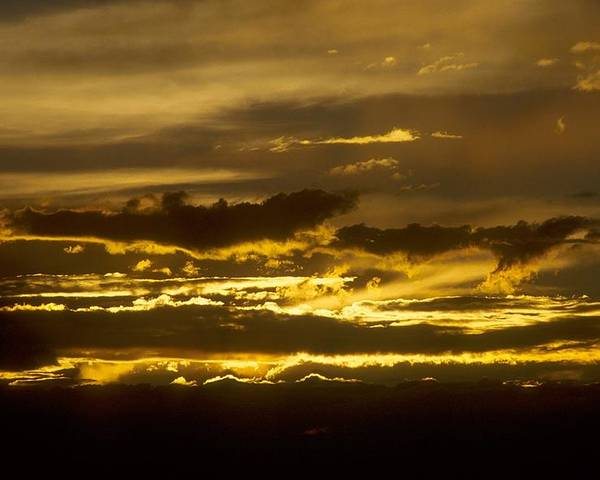 Clouds Poster featuring the photograph Fire In The Sky by Lynard Stroud