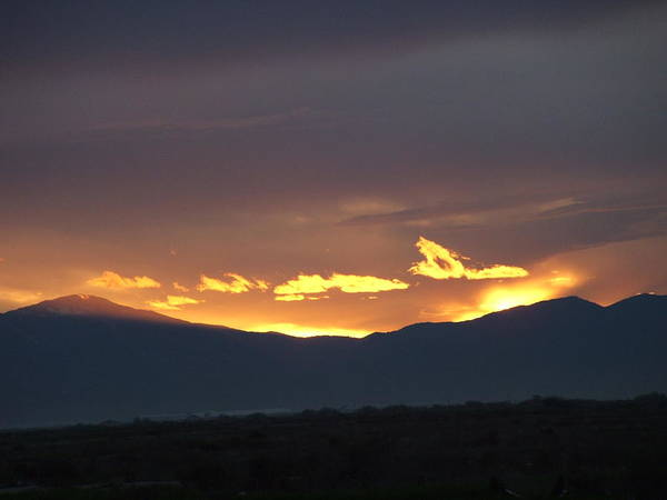 Sunset Poster featuring the photograph Fire In The Sky by Shari Chavira