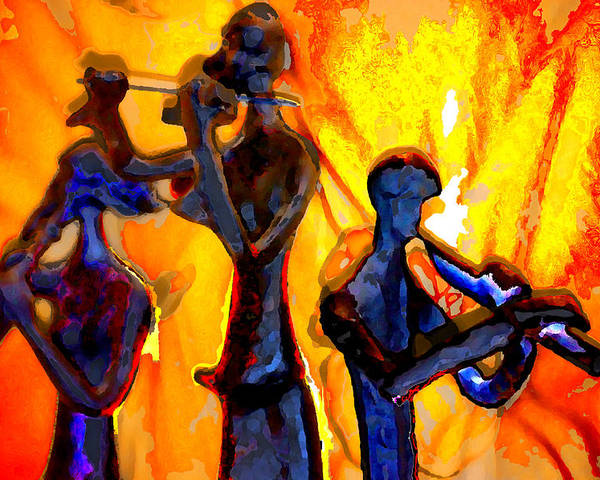 Music Poster featuring the photograph Fire Music by Danielle Stephenson