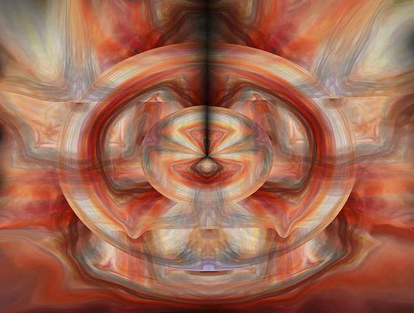 Abstract Art Poster featuring the digital art Fire Wheel by Linda Sannuti