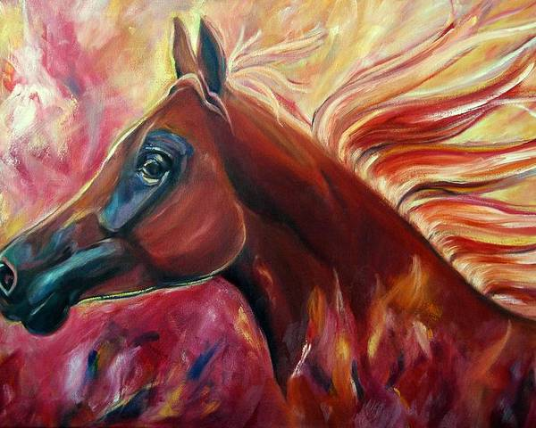 Horse Poster featuring the painting Firestalker by Stephanie Allison