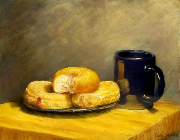 Still Life Poster featuring the painting First Call...breakfast by Jack Skinner