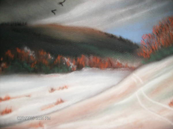 Pastel Poster featuring the painting First Dusting Of Snow by Terry Lash