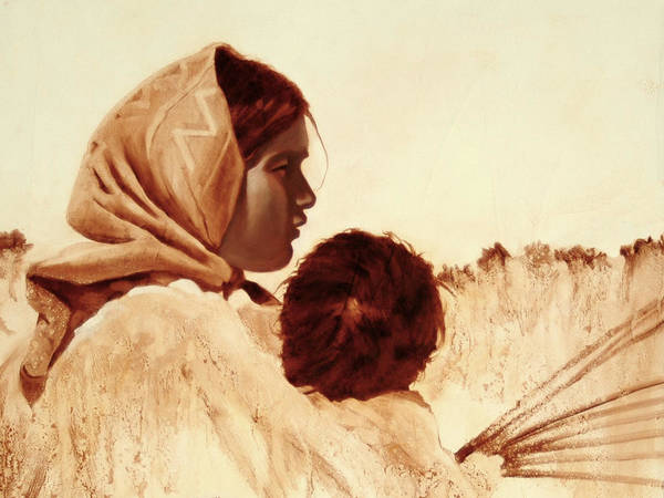 Tarahumara Poster featuring the painting First Easter by Robert Bissett