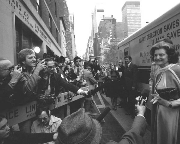 History Poster featuring the photograph First Lady Betty Ford Became An by Everett