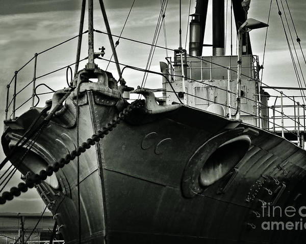 Hms Caroline Poster featuring the photograph First Of Her Class. Last Of The Fleet by Chris Cardwell