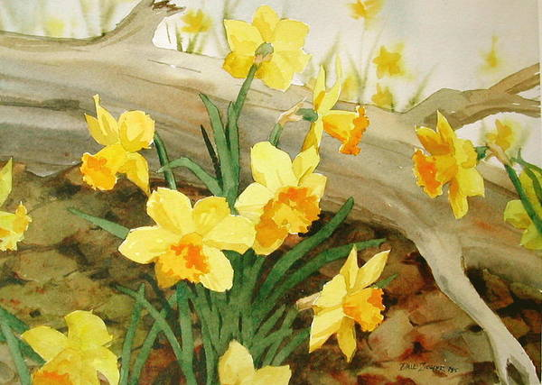 Spring Poster featuring the painting First Signs of Spring by Faye Ziegler