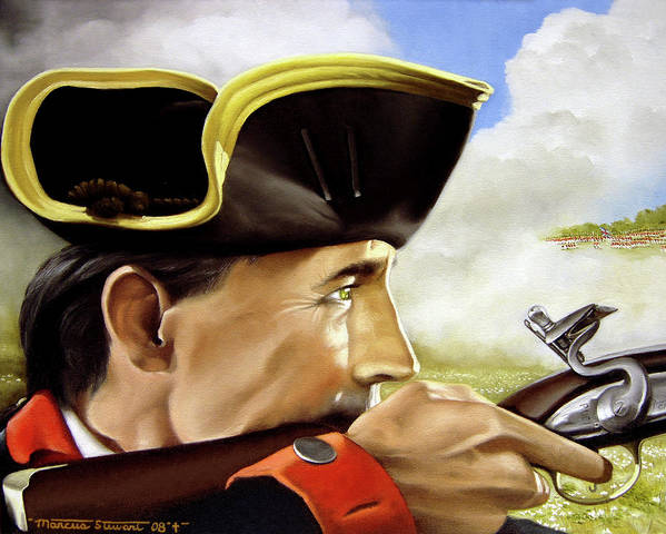 Continental Poster featuring the painting First To Fight by Marc Stewart