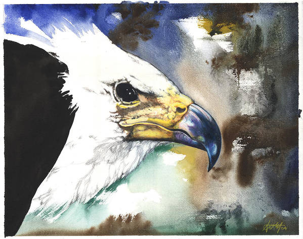 Fish Poster featuring the mixed media Fish Eagle II by Anthony Burks Sr
