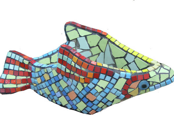 Fish Poster featuring the sculpture Fish by Katia Weyher