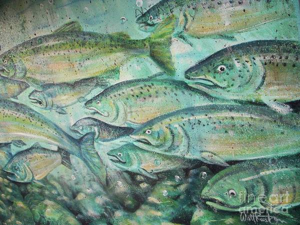 Fish Poster featuring the photograph Fish On The Wall by Vesna Antic