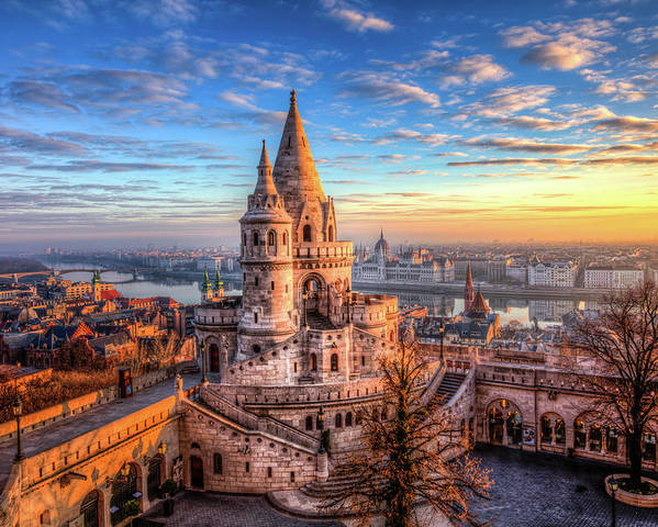 Budapest Poster featuring the photograph Fisherman's Bastion in Budapest by Shawn Everhart