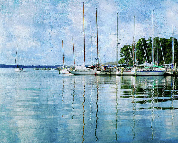 Poster featuring the photograph Fishing Bay Reflections by Guy Crittenden