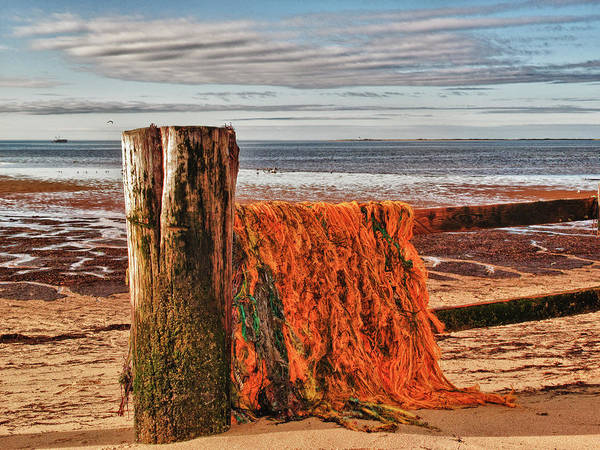 Seascape Poster featuring the photograph Fishing Nets In Province Town by Linda Pulvermacher