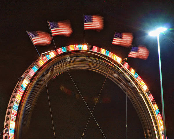 Carnival Images Poster featuring the photograph Five Flags by James BO Insogna
