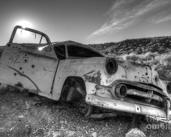 Transportation Art Poster featuring the photograph Fixer Upper by Bob Christopher