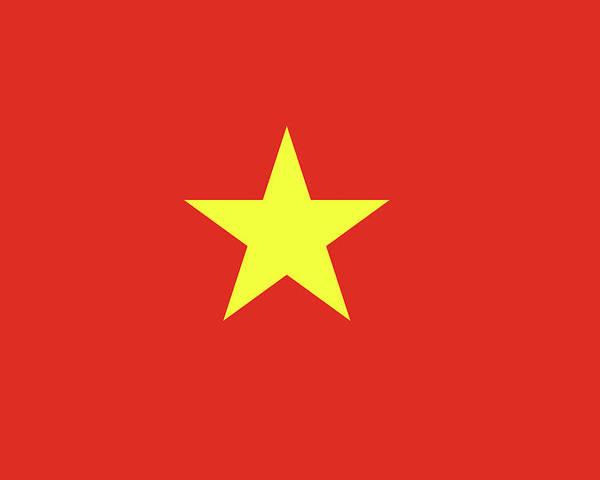 Asia Poster featuring the digital art Flag Of Vietnam by Roy Pedersen
