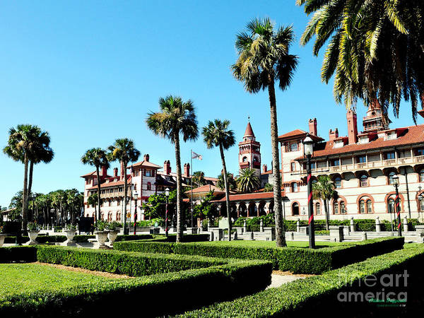 Florida Poster featuring the painting Flagler College by Addison Fitzgerald