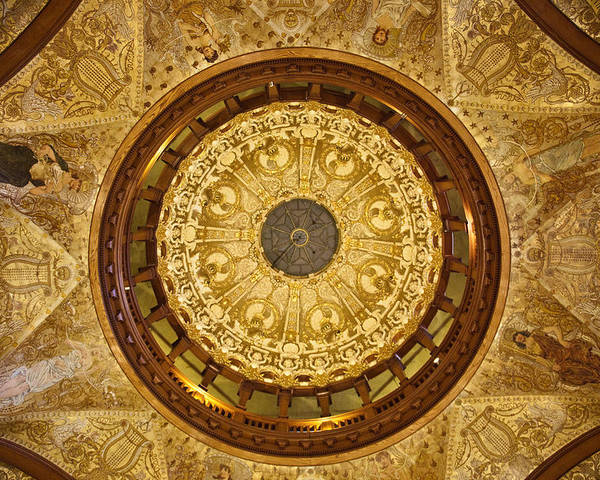Flagler College Poster featuring the photograph Flagler College Ceiling by Patrick Flynn