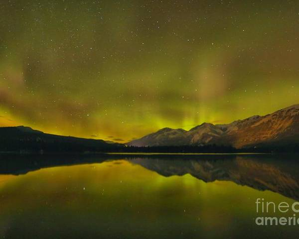 Canadian Northern Lights Poster featuring the photograph Flaring Northern Lights by Adam Jewell