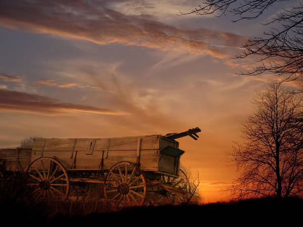 Wagon Poster featuring the photograph Flashback by Theresa Campbell