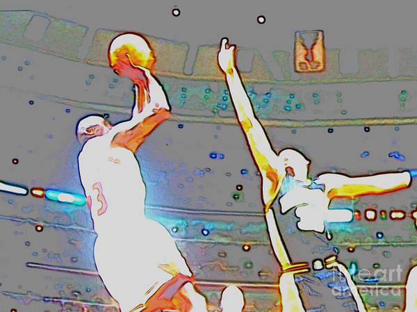 Michael Jordan Poster featuring the digital art Flashing Greatness by Brandon Ramquist