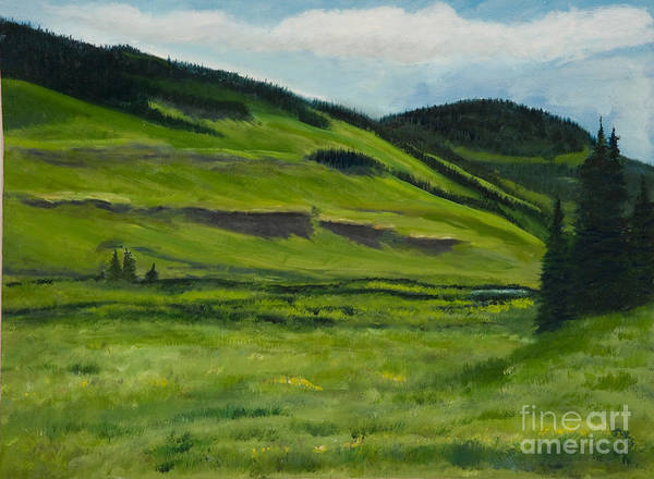 Landscape Artwork Painting Paintings Poster featuring the painting Flattops Wilderness by Julie Kreutzer